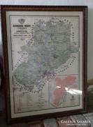 Gönczy Árpád készítette Csongrád Megye térképe