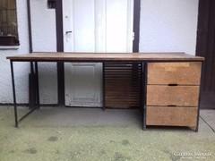 Hatalmas Loft Ipari asztal 3 fiókos
