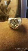 Extravastag ezüst köves gyűrű