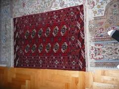 HIBÁTLAN KÉZI  CSOMÓZÁSÚ BOKHARA SZŐNYEG ÚJ! Bukhara szőnyeg