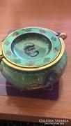 Rekeszzománc - Cloisonné -  keleti mintás fém edényke