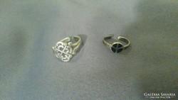 Női ezüst lábujjgyűrű