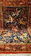 Vadászjelenetes Iráni perzsa szőnyeg