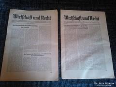 2db  2.világháborús német újság 1941-ből!!