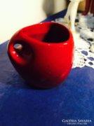 Zsolnay, ökörvér mázas, kis váza, Török János terve (43)