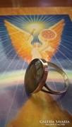 Csodálatosan szép, letisztult formavilágú mexikói ezüstgyűrű