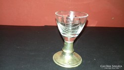 Ezüst talpú pálinkás pohár