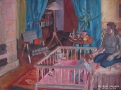 Orosz Gellért (1919 szeptember 26.-2002) : Interieur (1964)