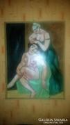 Antik olaj festmény farostra!!!Jelezve:Czobel