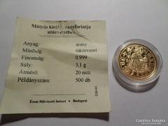 1458-1490 Hunyadi Mátyás aranyforint  Au 0,999