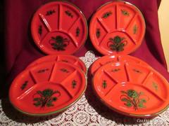 6 db kézzel festett osztott tányér  0920