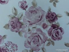 Álomszép rózsás selyem dekor függönypár.