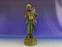 0G225 Antik Johann Maresch terrakotta szobor