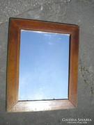 C586 Antik vastag keretes fali tükör