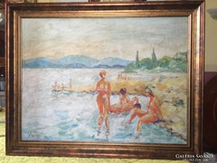 Vince Győző olaj festmény.