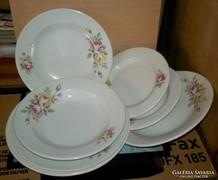 Antik  mázas tányérok, 6 db  tányér