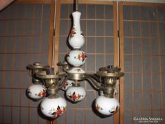 Majolikás porcelán csillár 5 ágú eladó!