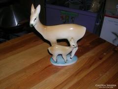 Sinkó Zsolnay porcelán őz