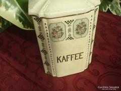 Szecessziós rózsás kávétároló,garnitúra része