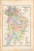 Pest - Pilis - Solt - Kiskun vármegye térkép 1905, eredeti