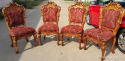 """Dúsan faragott """"babás""""puttós barokk székek!"""