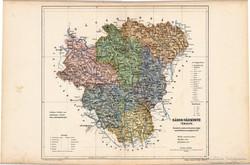 Sáros - vármegye térkép 1905, eredeti