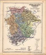 Gömör és Kis - Hont vármegye térkép 1905, eredeti