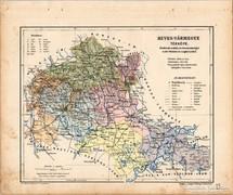 Heves vármegye térkép 1905, eredeti