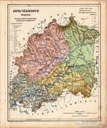 Árva vármegye térkép 1905, eredeti