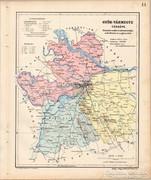 Győr - vármegye térkép 1905, eredeti