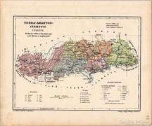 Torda - Aranyos vármegye térkép 1905, eredeti