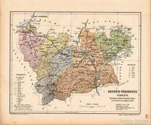 Szeben vármegye térkép 1905, eredeti