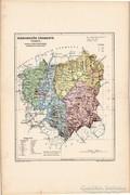 Háromszék vármegye térkép 1905, eredeti