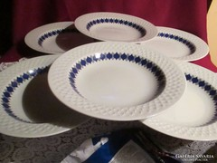 6 db anyagában mintás Schirnding mély tányér  0930