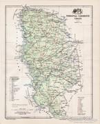 Torontál vármegye térkép 1897, antik, eredeti