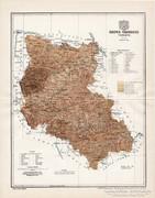 Szepes vármegye térkép 1897 II., antik, eredeti