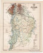 Pest - Pilis - Solt - Kis-Kun vármegye térkép 1896