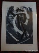 Bor Pál 55x38 cm litográfia jó állapotban
