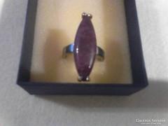 Nagyméretű ametiszt köves gyűrű