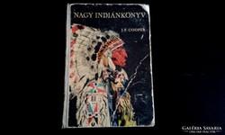 LEÁRAZVA!!! NAGY INDIÁN KÖNYV - JAMES F. COOPER   1965