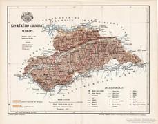 Kis - Küküllő vármegye térkép 1894, antik, eredeti