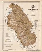Csik vármegye térkép 1893, antik, eredeti