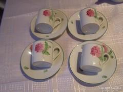 Tertia csodaszép kávés csésze 4 darab