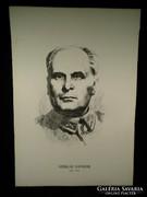 V203 Jelzett Sziklai Sándor portré kőnyomat