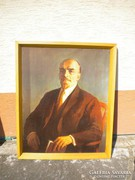V451 Nagyméretű Lenin portré plakát