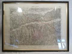 Y512 Antik régi térkép Nyárádtő und Nagy-kend