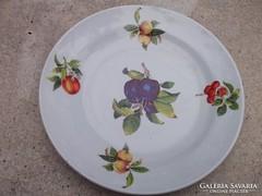 Zsolnay tányér gyümölcs mot. átm. 26 cm