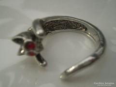 Cicás , cirkonköves ötvös gyűrű