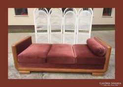 Art deco szingli ágy, hattyú ágy