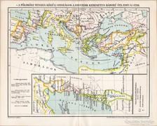 A Földközi - tenger körüli országok 1202 - 1291 térkép, 1894